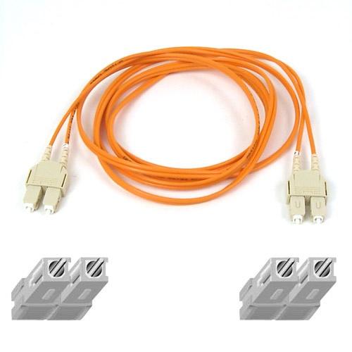 Belkin Cable Fibra Óptica Multimodo OM1 2x SC/PC Macho - 2x SC/PC Macho, 62.5/125µm, 10 Metros, Naranja