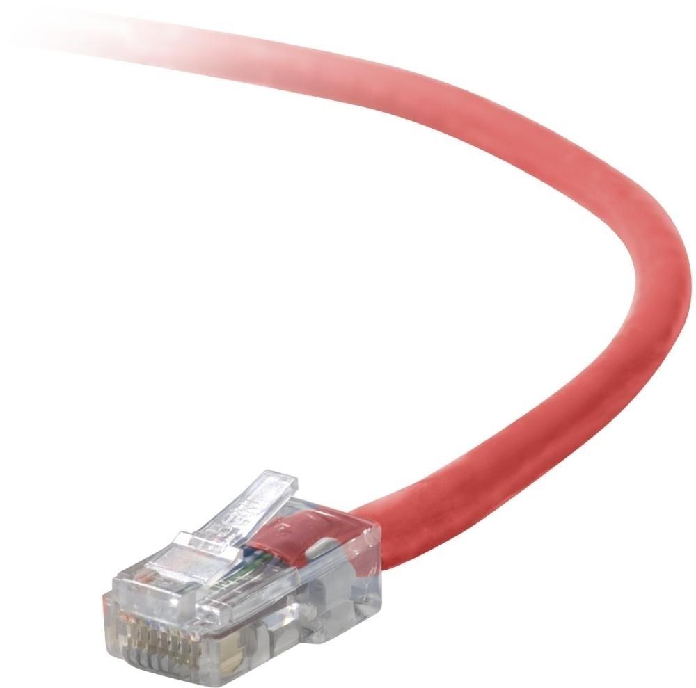 Belkin Cable Patch Cat5e UTP sin Enganches RJ-45 Macho - RJ-45 Macho, 90cm, Rojo