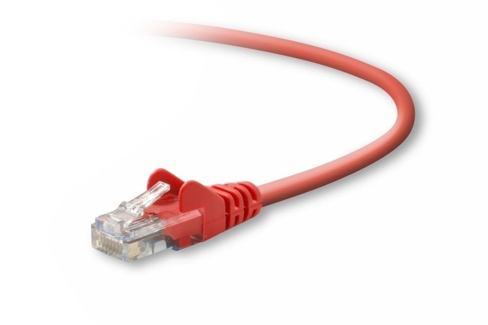 Belkin Cable Patch Cat5e UTP sin Enganches RJ-45 Macho - RJ-45 Macho, 1.2 Metros, Rojo
