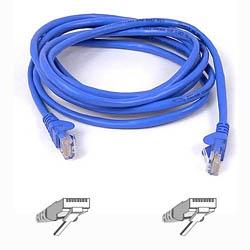 Belkin Cable Patch Cat6 UTP Moldeado sin Enganches RJ-45 Macho - RJ-45 Macho, 7.6 Metros, Azul