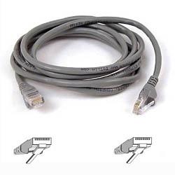 Belkin Cable Patch Cat6 UTP RJ-45 Macho - RJ-45 Macho, 22.8 Metros, Gris