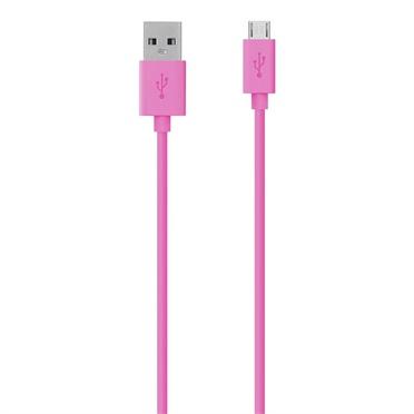 Belkin Cable USB A Macho - Micro USB B Macho, 1.2 Metros, Rosa