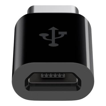 Belkin Adaptador USB C Macho - Micro USB B Hembra, Negro