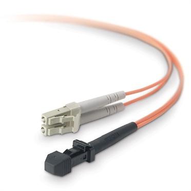 Belkin Cable Fibra Óptica Multimodo OFC LC Macho - MT-RJ Macho, 62.5/125µm, 1 Metro, Naranja
