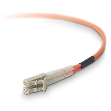 Belkin Cable Fibra Óptica Dúplex OFC 62.5/125µm, LC Macho - LC Macho, 3 Metros, Naranja