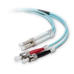 Belkin Cable Fibra Óptica Multimodo OM3 2x LC Macho - 2x ST Macho, 50/125µm, 2 Metros, Azul