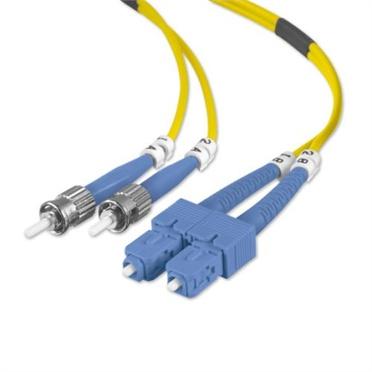 Belkin Cable Fibra Óptica Monomodo OFC ST Macho - SC Macho, 8.3/125µm, 5 Metros, Amarillo