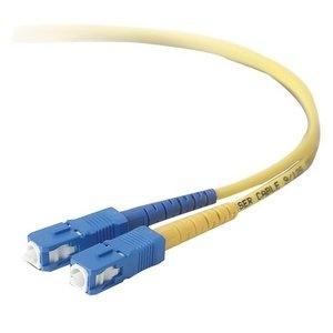 Belkin Cable Fibra Óptica Monomodo OFC SC Macho - SC Macho, 8.3/125µm, 15 Metros, Amarillo
