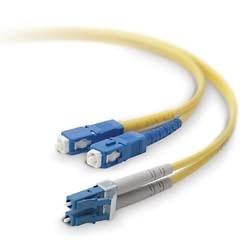 Belkin Cable Fibra Óptica Monomodo OFC LC Macho - SC Macho, 8.3/125µm, 15 Metros, Amarillo