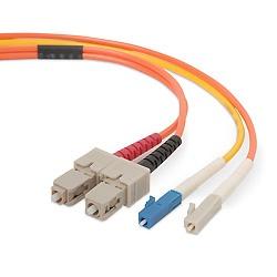 Belkin Cable Fibra Óptica Monomodo SC Macho - LC Macho, 62.5/125µm, 5 Metros, Naranja