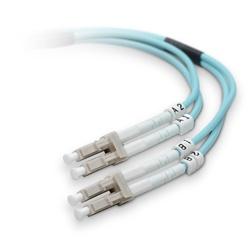 Belkin Cable Fibra Óptica Multimodo OFC LC Macho - LC Macho, 50/125µm, 2 Metros, Turquesa