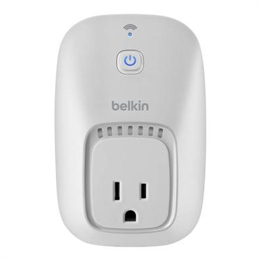 Belkin Enchufe WeMo Smart Plug, WiFi, para IOS/Android, Blanco