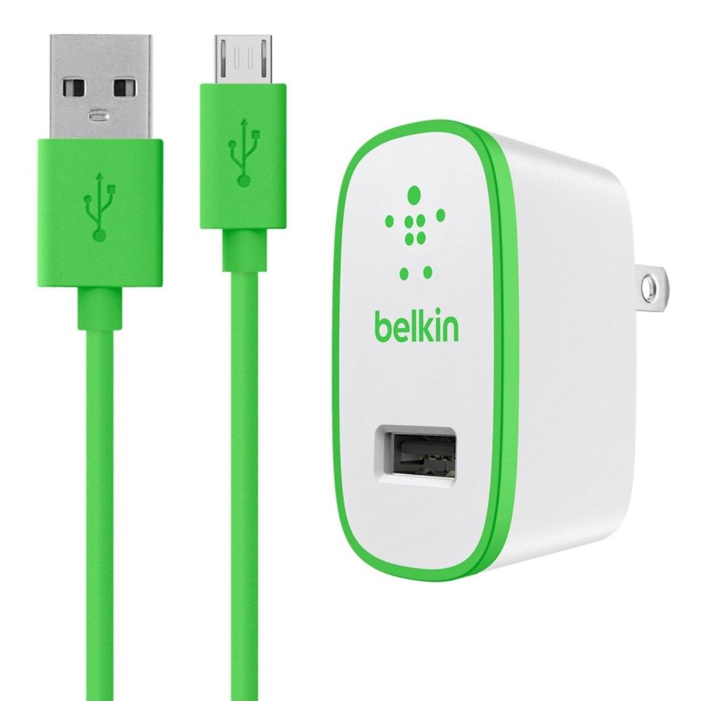 Belkin Cargador de Pared F8M667TT04-GRN, 1x USB 2.0, 10W, Verde/Blanco