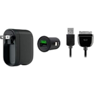 Belkin Kit de Cargador para Pared/Auto, 80cm, para iPad/iPod/iPhone