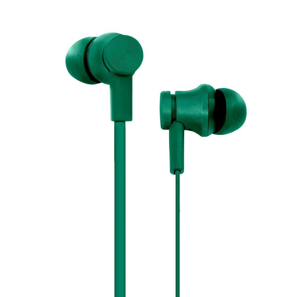 Billboard Audífonos Intrauriculares con Micrófono BB-E32170, Alámbrico, 1.2 Metros, 3.5mm, Verde