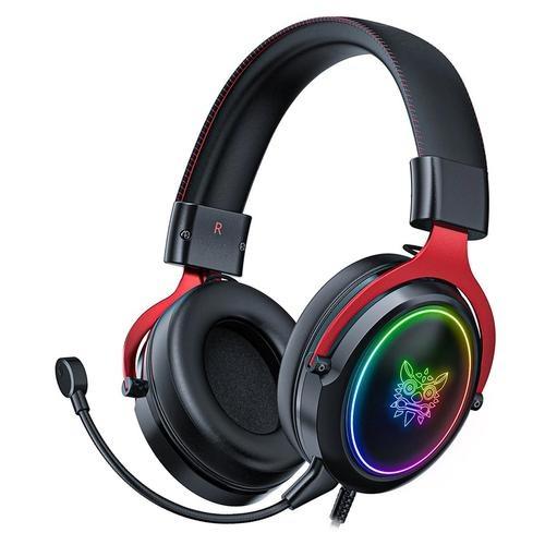 Binden Audífonos Gamer X10, Alámbrico, 3.5mm, Negro/Rojo