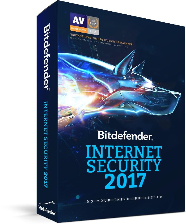 Bitdefender Internet Security 2017, 3 Usuarios, 2 Años, Windows