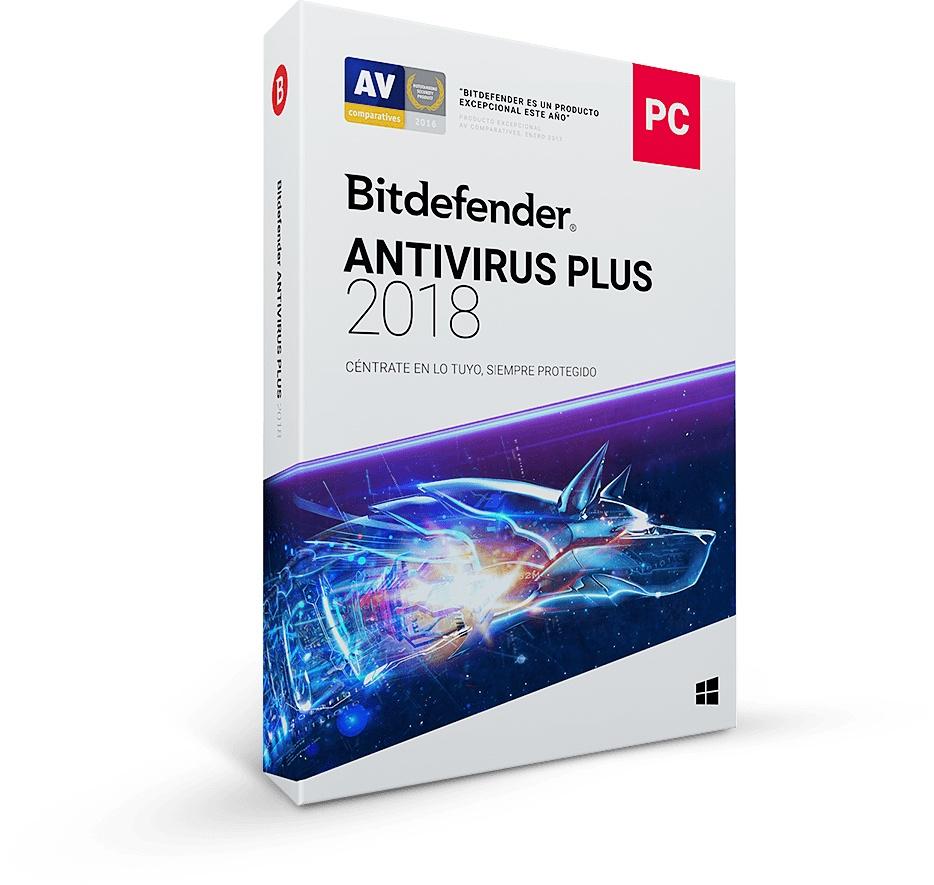 Bitdefender Antivirus Plus 2018, 5 Usuarios, 1 Año, Windows