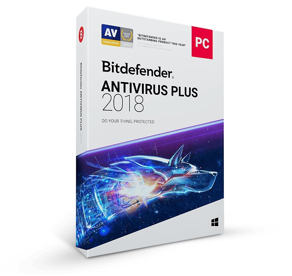 Bitdefender Antivirus Plus 2018, 10 Usuarios, 1 Año