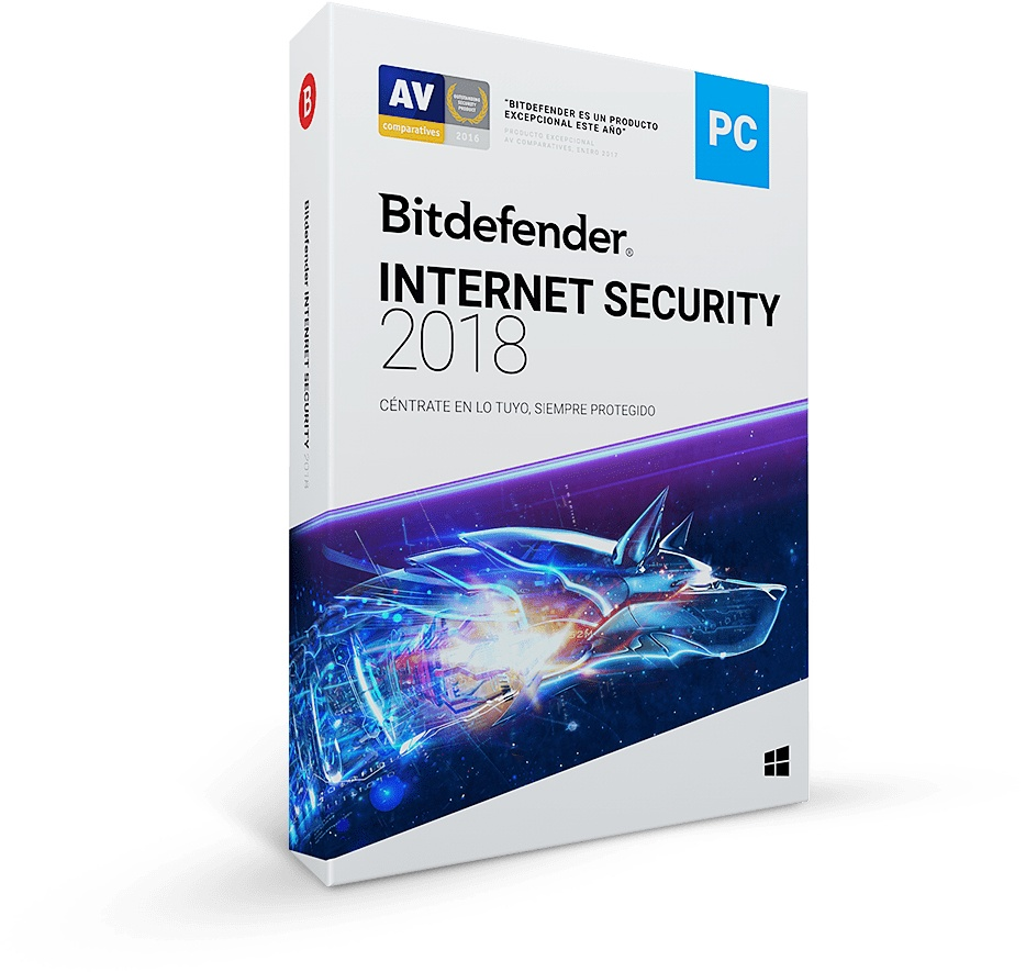 Bitdefender Internet Security 2018, 1 Usuario, 1 Año, Windows