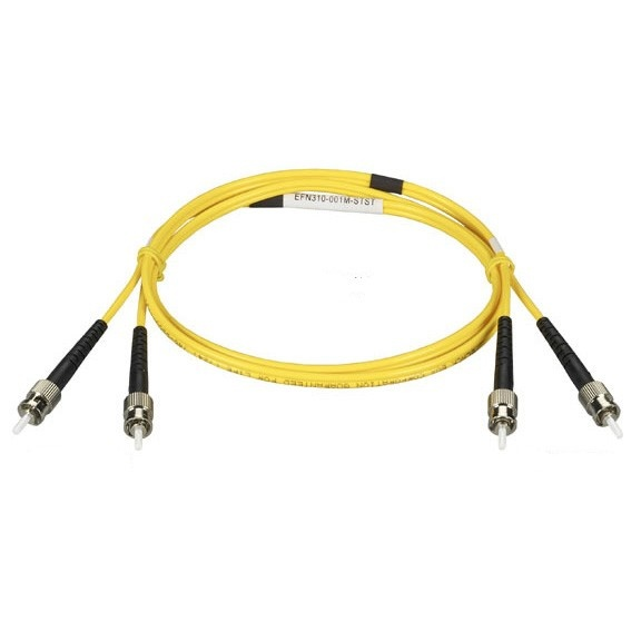 Black Box Cable Fibra Óptica OS2 Dúplex Monomodo ST Macho - ST Macho, 1 Metro, Amarillo