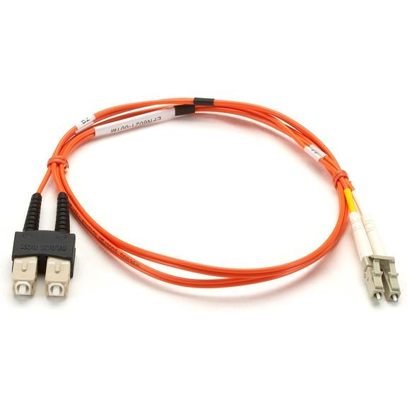 Black Box Cable Fibra Óptica Multimodo LC Macho - SC Macho, 1 Metro, Naranja