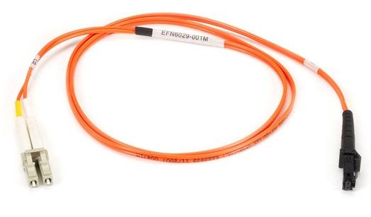 Black Box Cable Fibra Óptica Dúplex Multimodo MT-RJ Macho - LC Macho, 5 Metros, Naranja