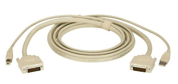 Black Box Cable KVM ServSwitch DVI/USB, 4.57 Metros, Beige
