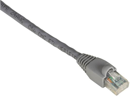 Black Box Cable Patch Cat6 UTP sin Enganches RJ-45 Macho - RJ-45 Macho, 60cm, Gris