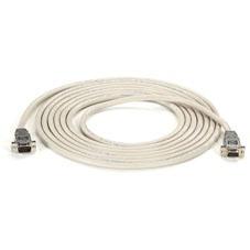 Black Box Cable Serial Null-Modem DB9 Macho - DB9 Hembra, 15.2 Metros, Gris