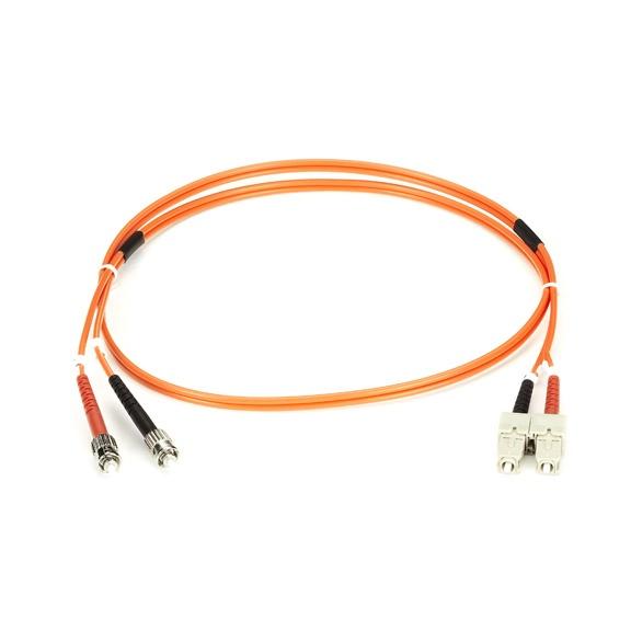 Black Box Cable Fibra Óptica ST Macho - SC Macho, 2 Metros, Naranja