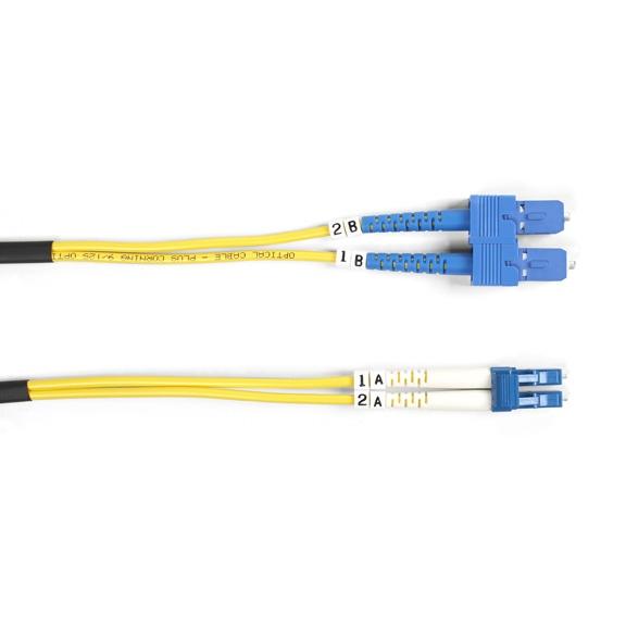 Black Box Cable Fibra Óptica OFC SC Macho - LC Macho, 3 Metros, Amarillo
