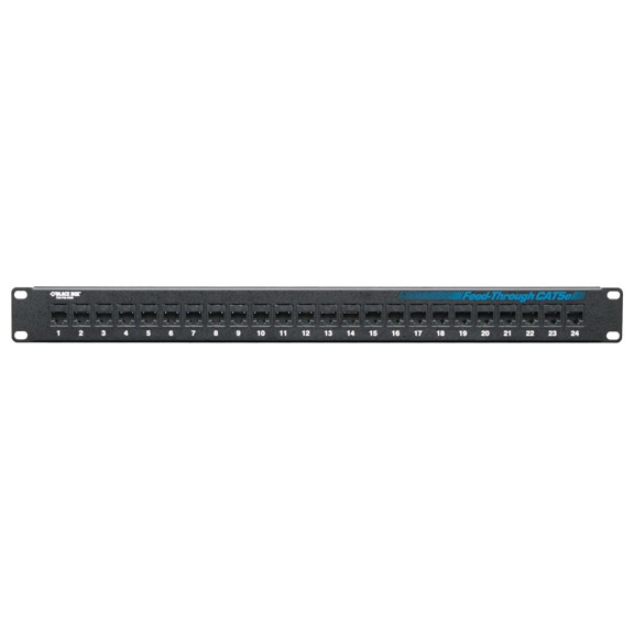 Black Box Panel de Parcheo Cat5e de 24 Puertos, Negro