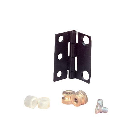Black Box Kit Panel de Bisagra, 1U, Negro