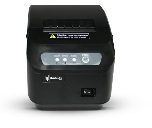 Black Ecco BE100, Impresora de Tickets, Térmica Directa, Alámbrico, USB + Serial, Negro