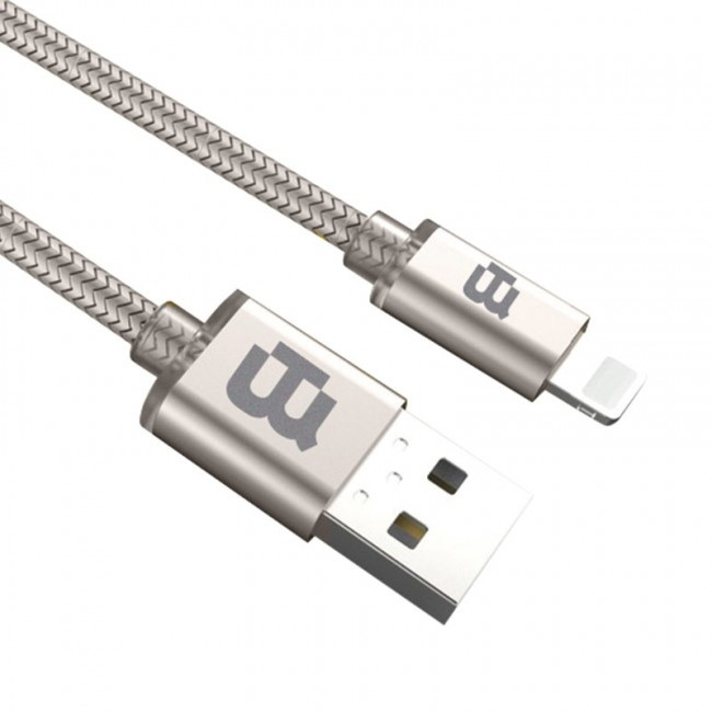 Blackpcs Cable CAGYLT2M-3 USB A Macho - Lightning Macho, 2 Metros, Plata