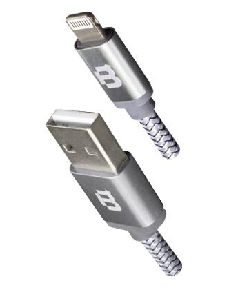 Blackpcs Cable de Carga Lightning Macho - USB A Macho, 3 Metros, Plata, para iPod/iPhone/iPad/Android