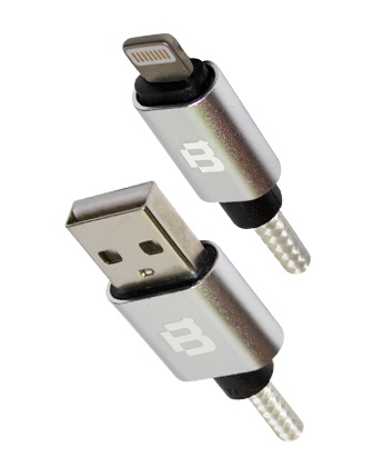 Blackpcs Cable CAWLT-1 USB A Macho - Lightning Macho, 1 Metro, Blanco