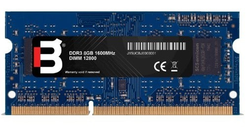 Memoria RAM Blackpcs DDR3, 1600MHz, 8GB, CL11, SO-DIMM, 1.5v