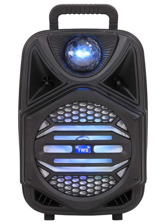 Blux Bafle PP-W44, Bluetooth, Inalámbrico, 4000W RMS, USB, Negro