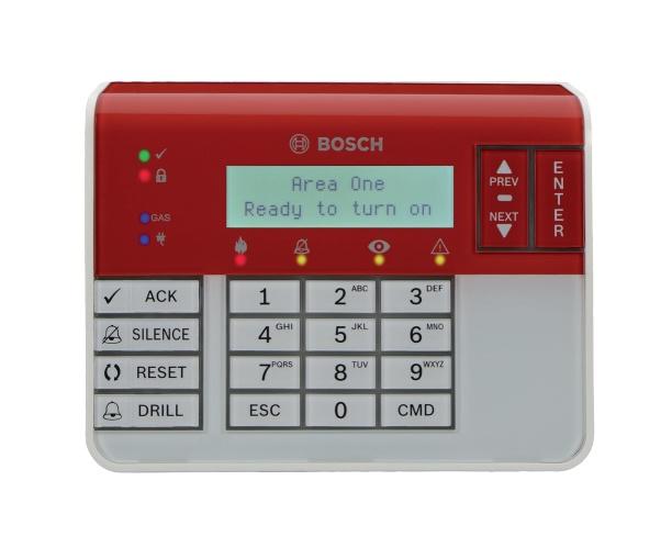 Bosch Teclado B926F, Alámbrico, Blanco/Rojo