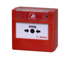 Bosch Estación Manual de Incendio FLM‑420‑NAC, Alámbrico, Rojo/Blanco