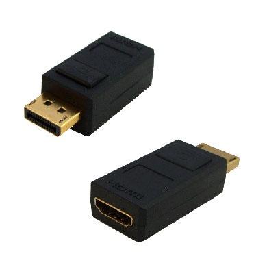 BRobotix Adaptador DisplayPort Macho - HDMI Hembra, Negro