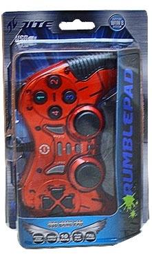 BRobotix Control para Juegos RumblePad, Alámbrico, USB 2.0, Rojo