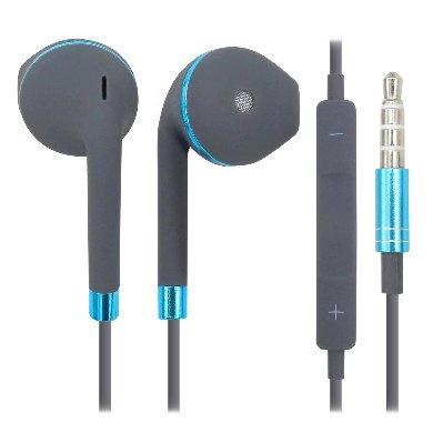BRobotix Audífonos Intrauriculares 764632, 1.15 Metros, Gris/Azul
