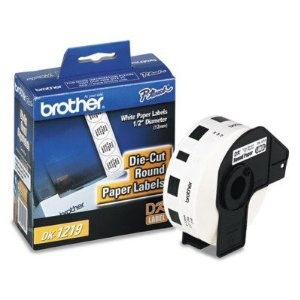 Brother Etiqueta Pre-Cortada DK-1219, 12mm, 1200 Etiquetas