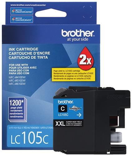 Cartucho Brother LC105C Cyan, 1200 Páginas