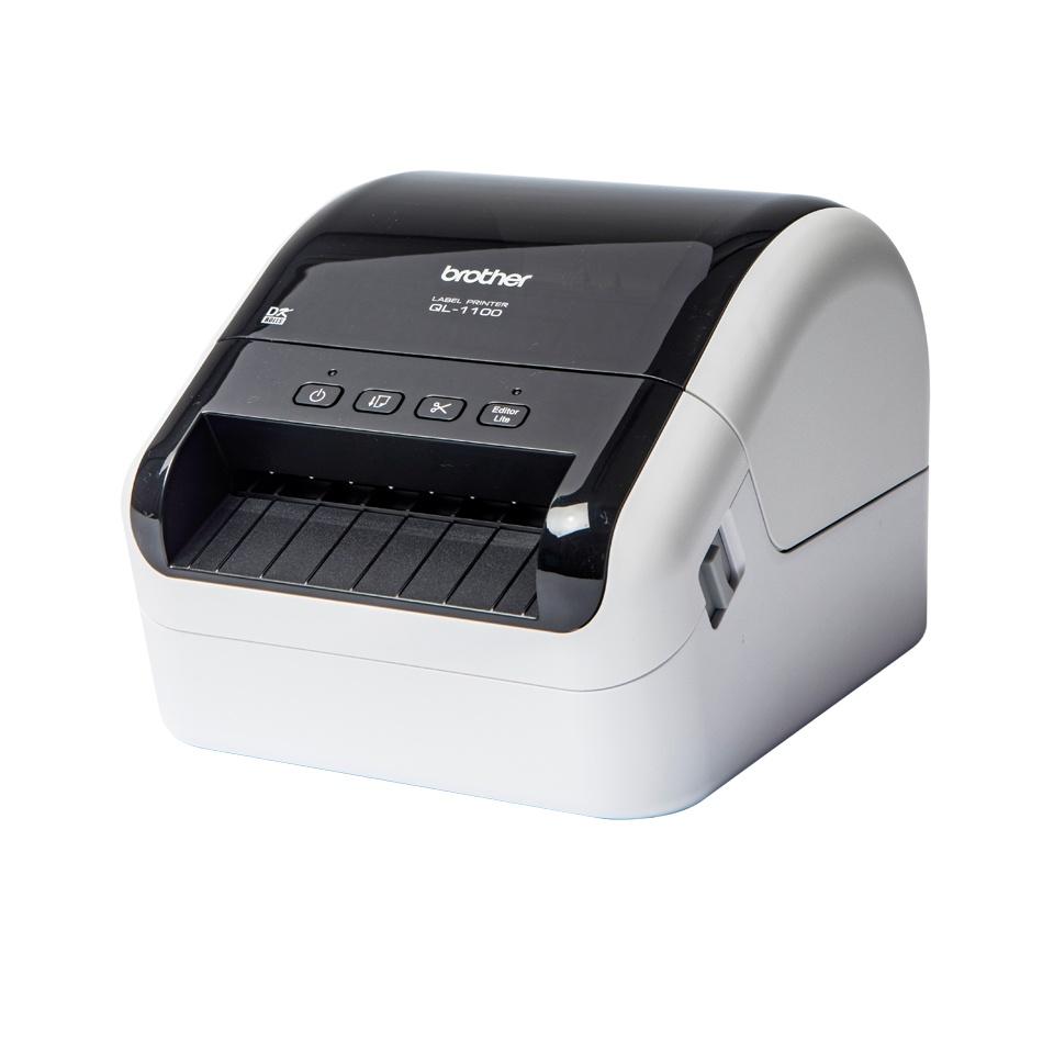 Brother QL-1100, Impresora de Etiquetas, Térmica Directa, 300 x 300DPI, USB 2.0, Negro/Blanco