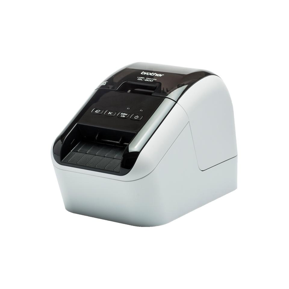 Brother QL-800, Impresora de Etiquetas, Térmica Directa, 300 x 600 DPI, USB 2.0, Negro/Gris