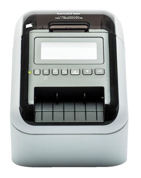 Brother QL-820NWB, Impresora de Etiquetas, Térmica Directa, 300 x 600 DPI, USB 2.0, Negro/Blanco